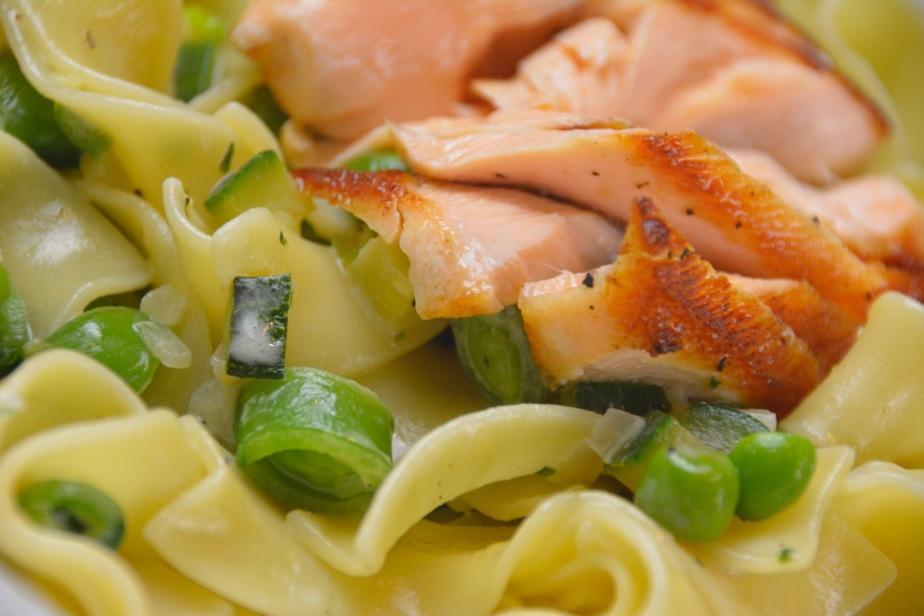 Pasta – Lachs – GrünesGemüse